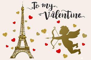 To my Valentine. Design Kit