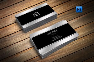 Silver metal finish business card