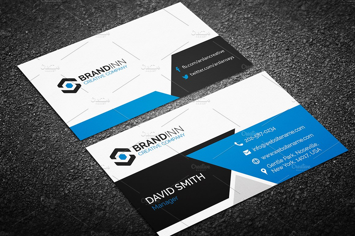 Modern business card template business card templates creative modern business card template business card templates creative market flashek Image collections
