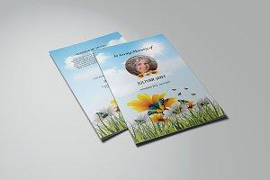 Funeral Program Template-V776