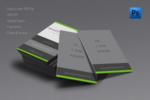Fresh look for every business card