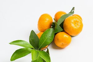 Mandarines on the wooden background