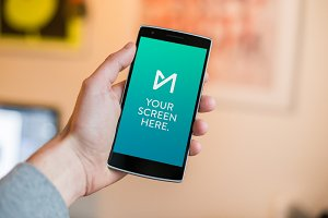 OnePlus One portrait mockup psd
