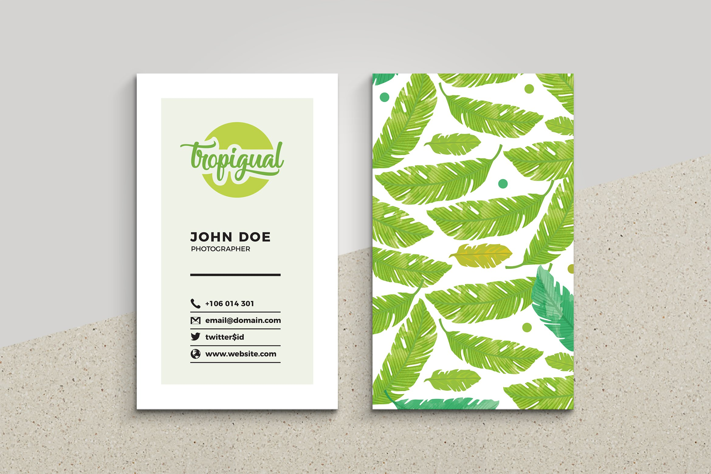 tropical business card business card templates creative market