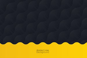 Black & Yellow Abstract Background