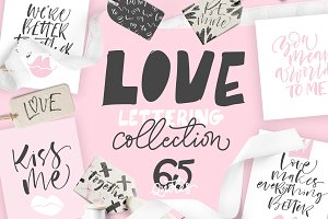Love lettering collection.