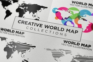 Creative World Map Vector
