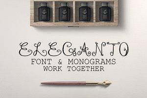 Monogram ELEGANTO Duo Font