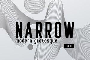 NARROW - modern grotesque font