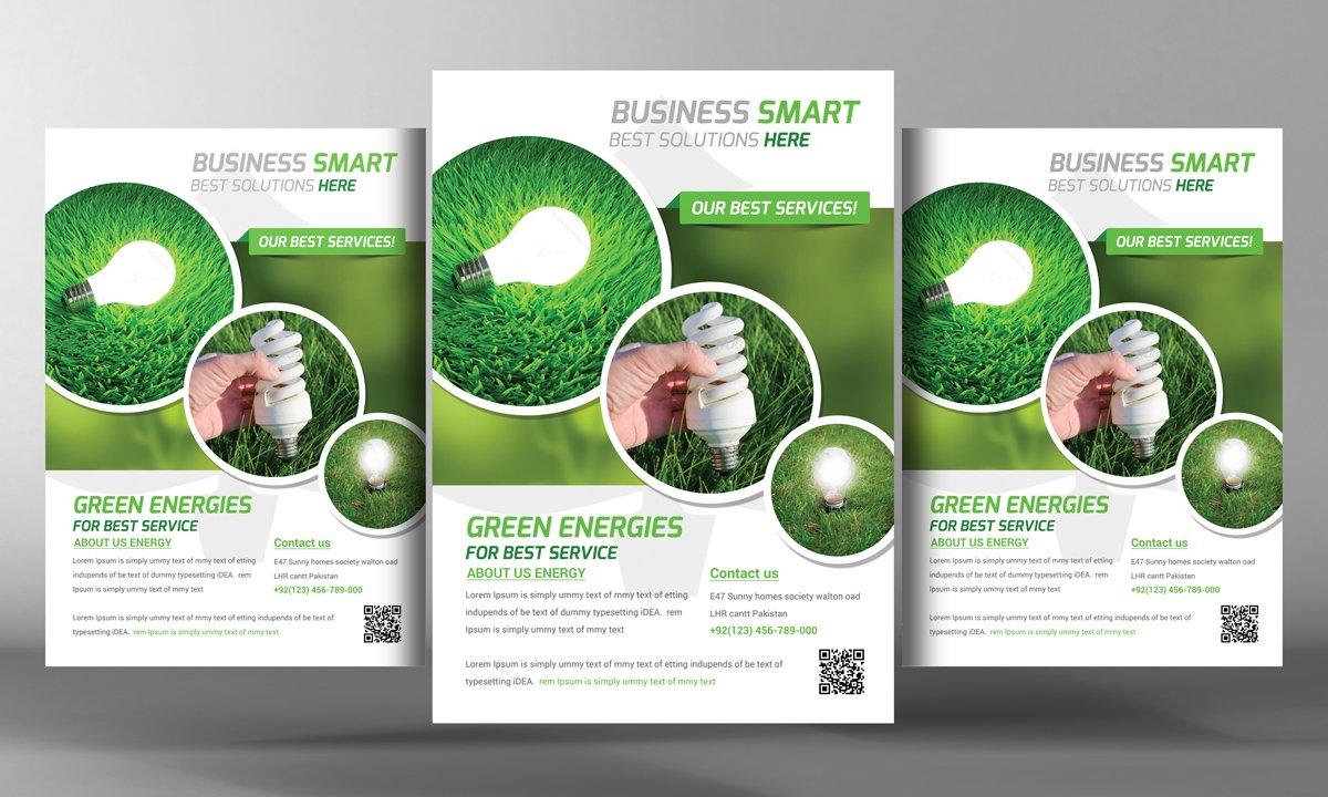 green energy flyer template flyer templates creative market