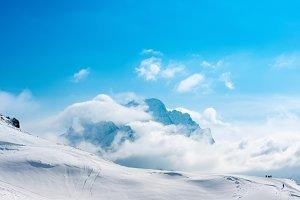 beautiful winter landscape of Dombaj