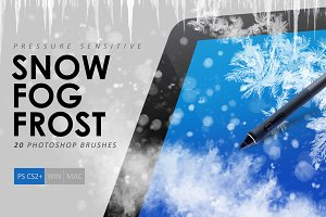 Snow, Fog, Frost Photoshop Brushes