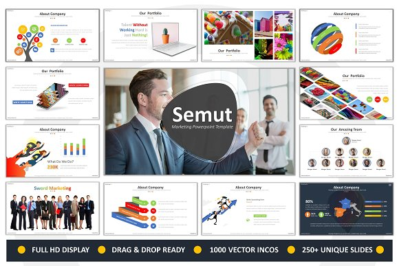 semut marketing powerpoint presentation templates creative market