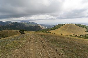 A dirt road in the mountains. Crimea