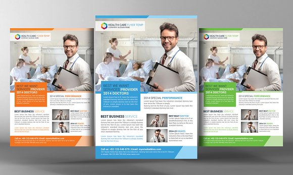 Health Care Flyer Template Flyer Templates Creative Market