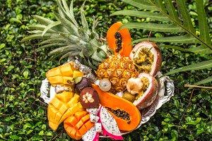 Exotic fruit close-up on