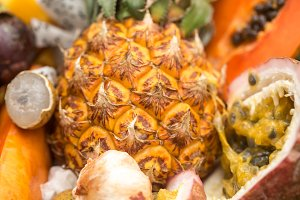 Exotic fruit close-up on