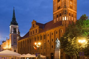 Old City Town Hall in Torun at Night