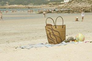 basket on the beach