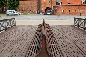 Bench and Gate to Torun City