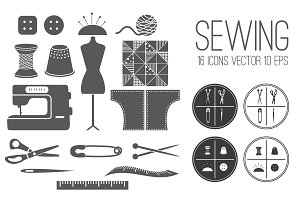 Set icons Sewing