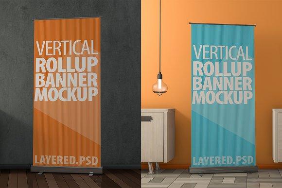 Roll Up Banner Mock-Ups PSD