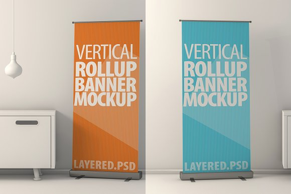 Roll Up Banner Mock-Ups PSD