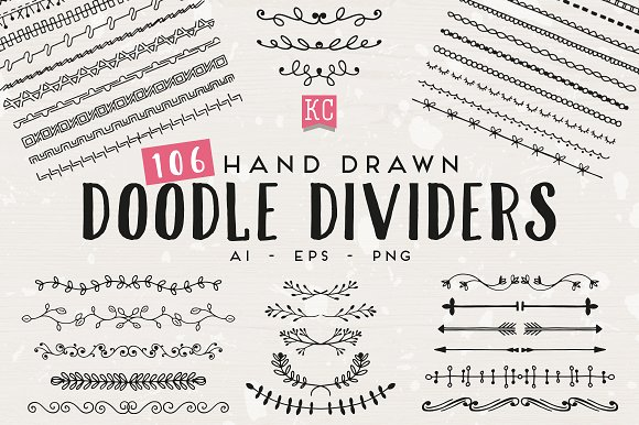Hand Drawn Doodle Dividers ~ Creative Daddy