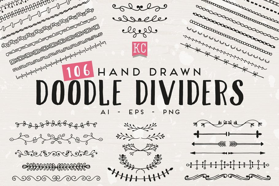 low priced aa13f 7ec6c Hand Drawn Doodle Dividers