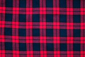 texture of red  checkered fabric