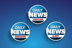Daily news vector set