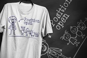 Position open - T-Shirt Design