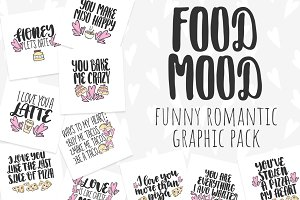 Funny romantic graphic pack