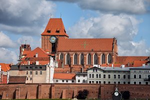 Old Town in City of Torun in Poland