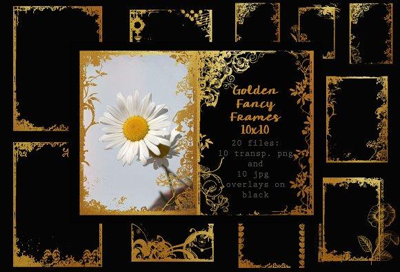 Very Fancy Golden Frames 5 X 7