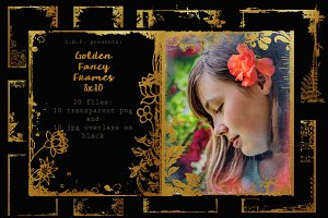 Very Fancy Golden Frames:  8 x 10