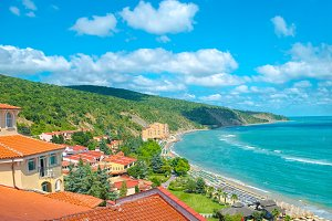 coastline Black sea with mountain