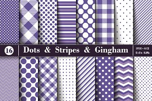 Ultra Violet Polka Dots and Stripes