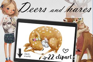 Deers and Hares-2