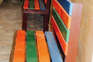 Colorful Benches, Panama