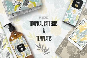 TROPICAL PATTEPNS & TEMPLATES