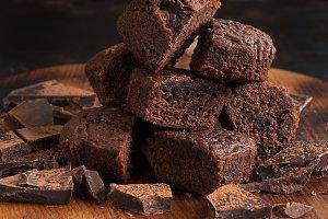 Chocolate muffins and chocolate