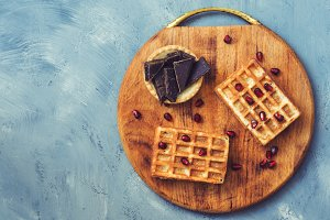 Waffles and chocolate