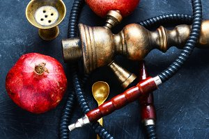 hookah with pomegranate