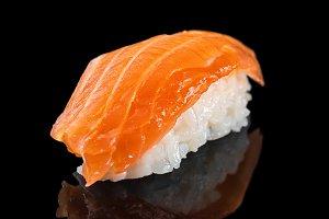 sushi nigiri with salmon