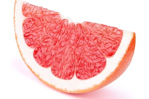 Grapefruit slice isolated