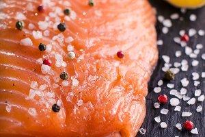 Gravlax - raw salmon