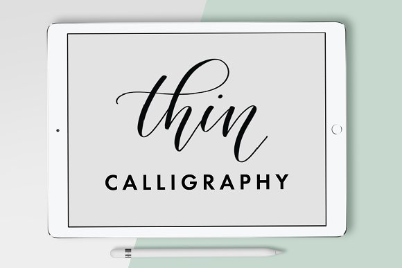 Thin Calligraphy Procreate Brush