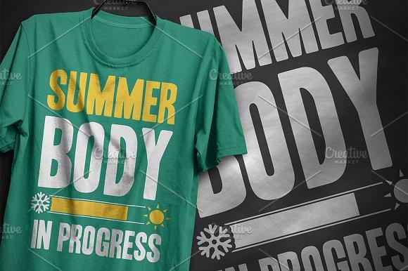 35f9fbc0dd2 Summer body - T-Shirt Design ~ Illustrations ~ Creative Market