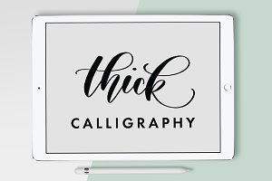 Thick Calligraphy Procreate Brush